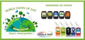 WORLD CLEAN UP DAY avec IDEALE BOX cendrier de poche fabriqué en France 1